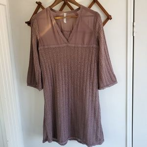 Moriorerio Purple Knit Dress | Large